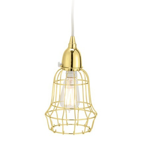 Dimond Lighting Gold Wire Barrel Pendant Light 225053