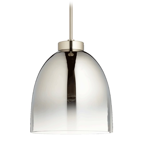 Quorum Lighting Quorum Lighting Satin Nickel Pendant Light with Bowl / Dome Shade 830-1465
