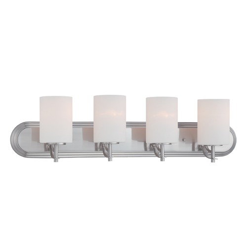 Designers Fountain Lighting Designers Fountain Cassina Satin Platinum Bathroom Light 86904-SP