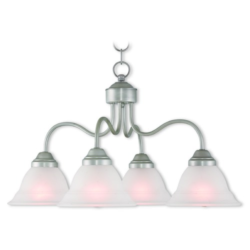 Livex Lighting Livex Lighting Wynnewood Hand Applied Brushed Silver Chandelier 40724-34