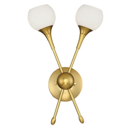 George Kovacs Lighting Mid-Century Modern Sconce Gold Finish 2Lt by George Kovacs P1802-248