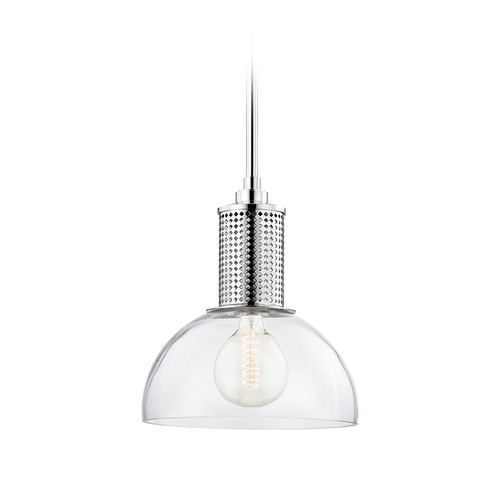 Hudson Valley Lighting Hudson Valley Lighting Halcyon Polished Nickel Pendant Light with Bowl / Dome Shade 7214-PN
