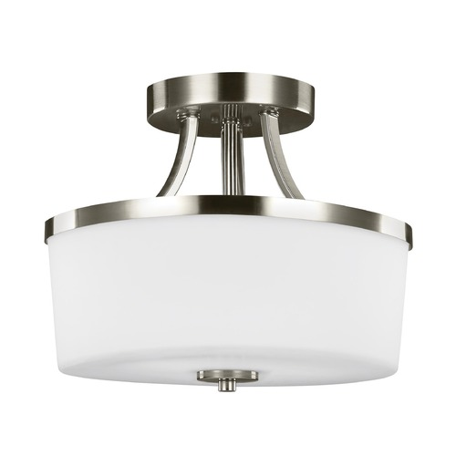 Sea Gull Lighting Sea Gull Lighting Hettinger Brushed Nickel Semi-Flushmount Light 7739102-962