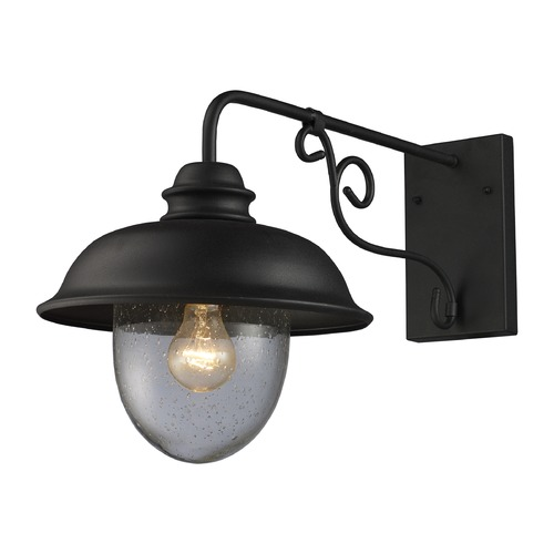 Elk Lighting Elk Lighting Streetside Caf� Matte Black Outdoor Wall Light 62001-1