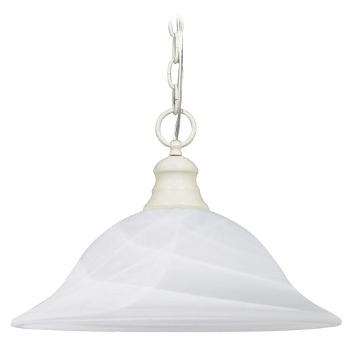 Nuvo Lighting Pendant Light with Alabaster Glass in Textured White Finish 60/393