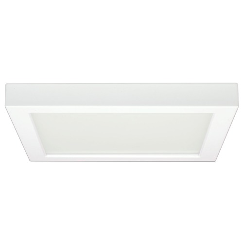 Design Classics Lighting 9-Inch Square White Low Profile LED Flushmount Ceiling Light - 3000K 8343-30-WH