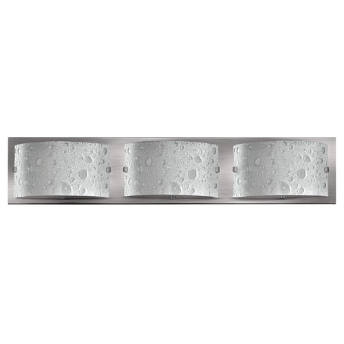 Hinkley Lighting Modern Bathroom Light with Bubble Art Glass in Brushed Nickel Finish 5923BN