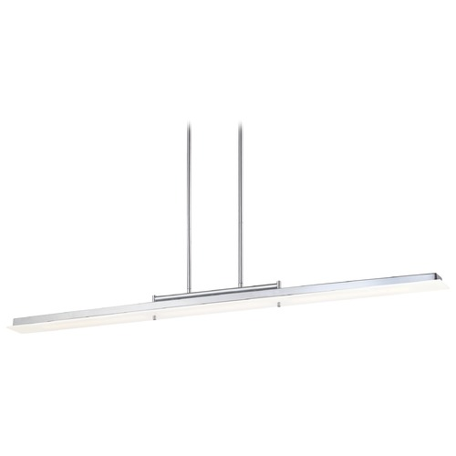 George Kovacs Lighting George Kovacs Twist and Shout Chrome LED Island Light with Rectangle Shade P1902-077-L