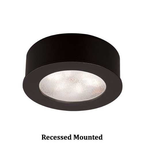 WAC Lighting WAC Lighting LED Button Light Black 2.25-Inch LED Under Cabinet Puck Light HR-LED87-27-BK