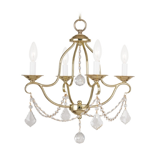 Livex Lighting Livex Lighting Chesterfield Polished Brass Crystal Chandelier 6424-02