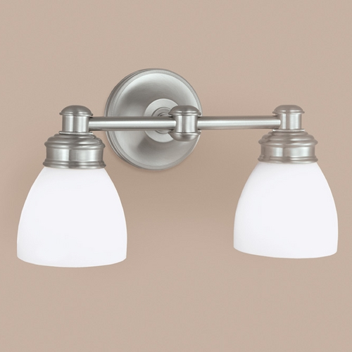 Norwell Lighting Norwell Lighting Spencer Brush Nickel Bathroom Light 8792-BN-OP