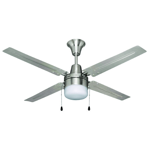 Craftmade Lighting Craftmade Urbana Brushed Chrome Ceiling Fan with Light UB48BC4C1