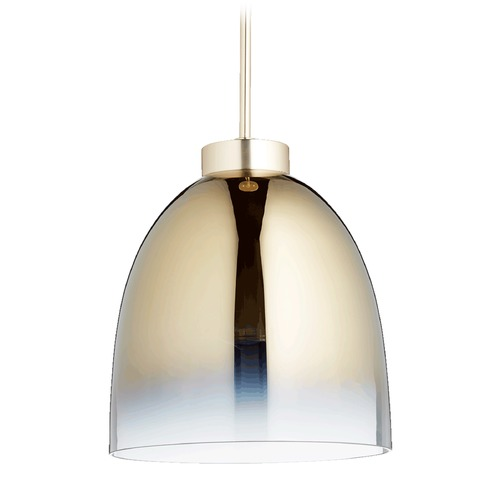 Quorum Lighting Quorum Lighting Satin Gold Pendant Light with Bowl / Dome Shade 830-2020