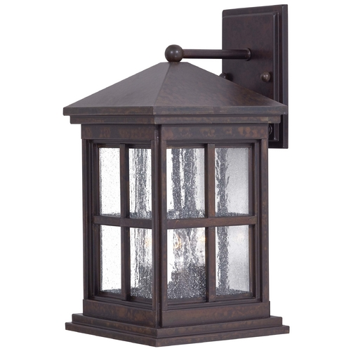 Minka Lavery Outdoor Wall Light with Clear Glass in Rust Finish 8562-51