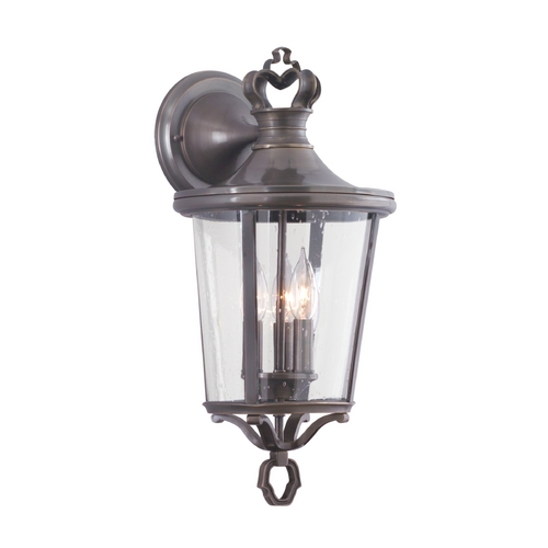 Troy Lighting Outdoor Wall Light with Clear Glass in English Bronze Finish B1382EB