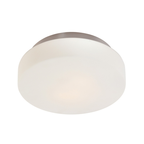 Sonneman Lighting Modern Flushmount Light with White Glass in Satin Nickel Finish 4159.13