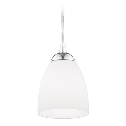 Design Classics Lighting Modern Mini-Pendant Light with White Bell Glass 582-26 GL1028MB