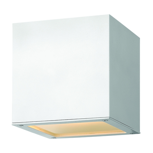 Hinkley Lighting Modern Outdoor Wall Light with Etched in Satin White Finish 1766SW
