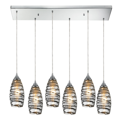Elk Lighting Modern Multi-Light Pendant Light with Clear Glass and 6-Lights 31338/6RC-VINW