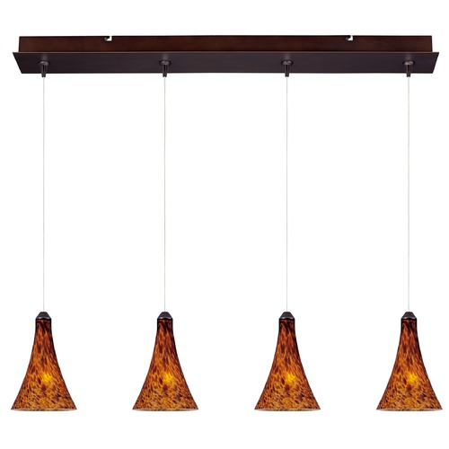 ET2 Lighting Minx Bronze Multi-Light Pendant with Bell Shade E94931-104BZ