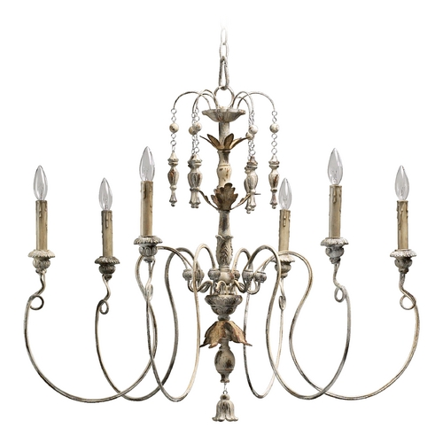 Quorum Lighting Quorum Lighting Salento Persian White Chandelier 6006-6-70