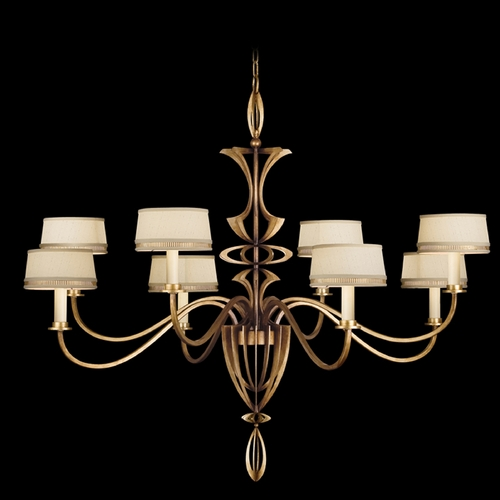 Fine Art Lamps Fine Art Lamps Staccato Gold Leaf Chandelier 786640-2ST
