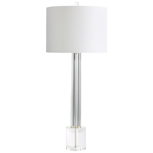 Cyan Design Cyan Design Quantom Clear Table Lamp with Drum Shade 6603