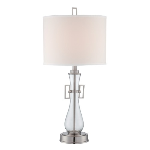 Lite Source Lighting Lite Source Lighting Dyani Polished Steel Table Lamp with Drum Shade LSF-22662