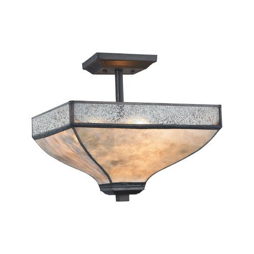Elk Lighting Elk Lighting Santa Fe Tiffany Bronze Semi-Flushmount Light 70202/3