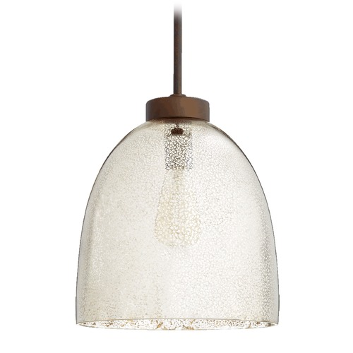 Quorum Lighting Quorum Lighting Oiled Bronze Pendant Light with Bowl / Dome Shade 830-4786