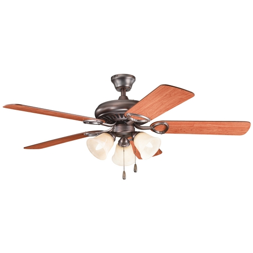 Kichler Lighting Kichler Ceiling Fan with Lights in Oil Brushed Bronze Finish 339400OBB