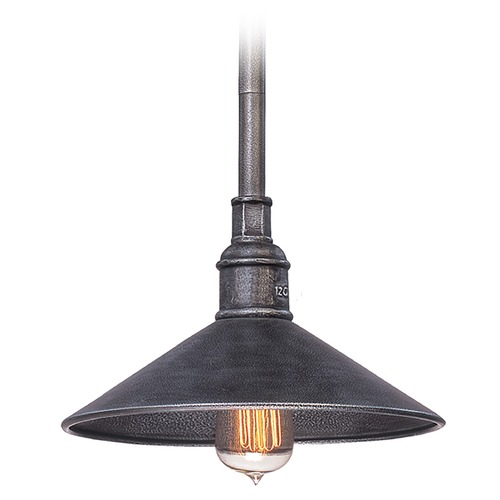 Troy Lighting Outdoor Hanging Light in Old Silver Finish F2773