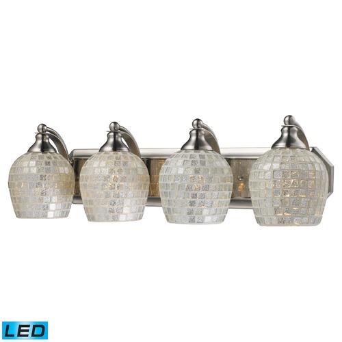 Elk Lighting Elk Lighting Bath and Spa Satin Nickel LED Bathroom Light 570-4N-SLV-LED