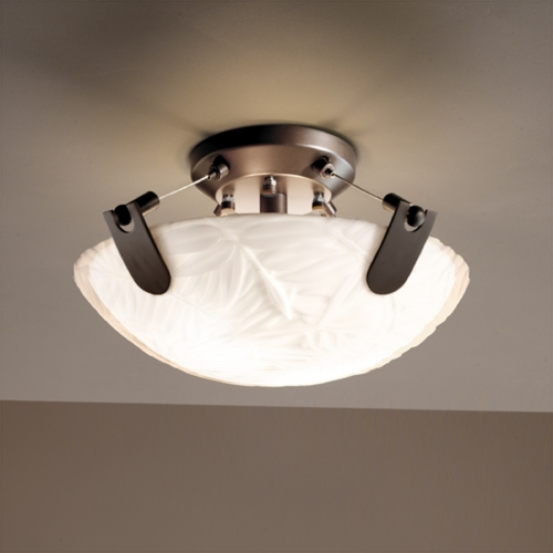 Justice Design Group Justice Design Group Porcelina Collection Semi-Flushmount Light PNA-9610-35-BMBO-DBRZ