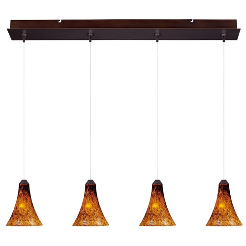 ET2 Lighting Minx Bronze Multi-Light Pendant with Bell Shade E94933-104BZ