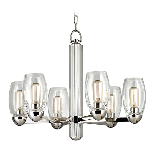 Hudson Valley Lighting Hudson Valley Lighting Pamelia Polished Nickel Chandelier 8846-PN