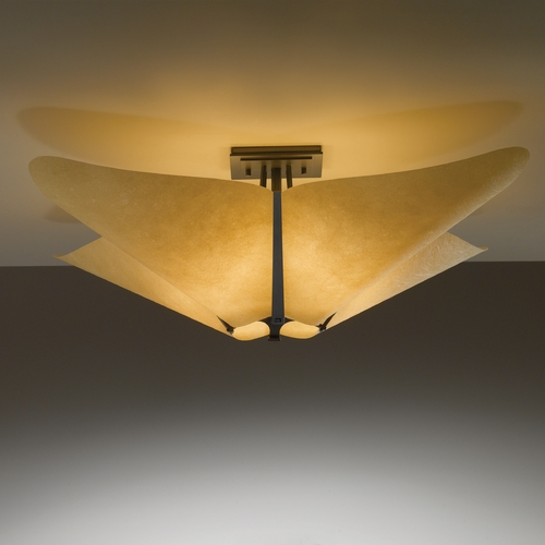 Hubbardton Forge Lighting Hubbardton Forge Lighting Kirigami Dark Smoke Semi-Flushmount Light 123305-SKT-07-SI1995
