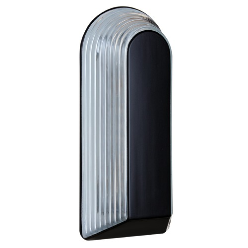 Besa Lighting Ribbed Glass Outdoor Wall Light Black Costaluz by Besa Lighting 243357
