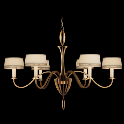 Fine Art Lamps Fine Art Lamps Staccato Gold Leaf Chandelier 786740-2ST