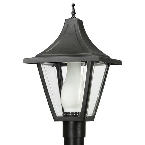 Wave Lighting Wave Lighting Marlex Vanguard Black Post Light 612