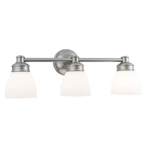 Norwell Lighting Norwell Lighting Spencer Brush Nickel Bathroom Light 8793-BN-OP