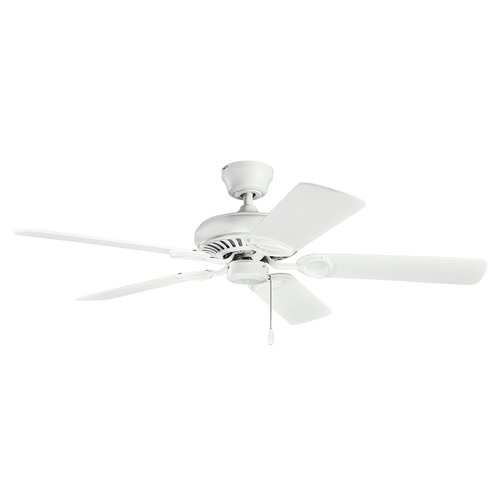 Kichler Lighting Kichler Lighting Sutter Place Matte White Ceiling Fan Without Light 339011MWH