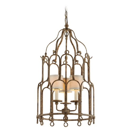 Troy Lighting Troy Lighting Carousel Provence Bronze Pendant Light with Cylindrical Shade F4835