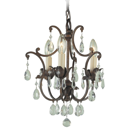 Feiss Lighting Mini-Chandelier in British Bronze Finish F1880/3BRB
