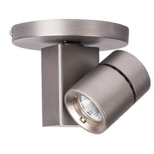 WAC Lighting WAC Lighting Brushed Nickel LED Monopoint Spot Light 2700K 624LM MO-1014F-927-BN