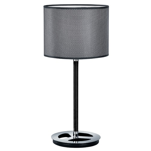 Arnsberg Arnsberg Stratos Black and Chrome Console & Buffet Lamp with Drum Shade 503400106