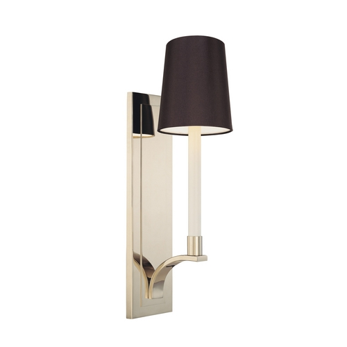 Sonneman Lighting Sconce Wall Light with Black Shade in Polished Nickel Finish 1825.35K