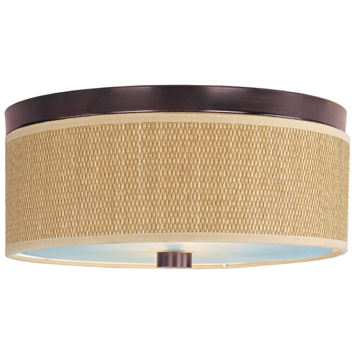 ET2 Lighting Modern Flushmount Light with Brown Tones Shades in Oil Rubbed Bronze Finish E95002-101OI