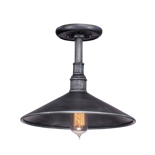 Troy Lighting Outdoor Hanging Light in Old Silver Finish F2774