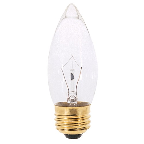 Satco Lighting Incandescent Flame Light Bulb Medium Base 130V by Satco A3631